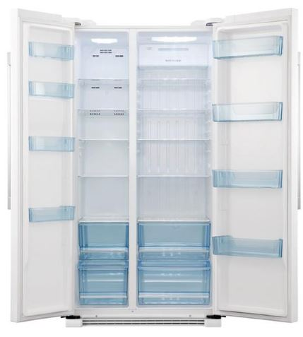haier 628l side by side fridge white buy online. Black Bedroom Furniture Sets. Home Design Ideas