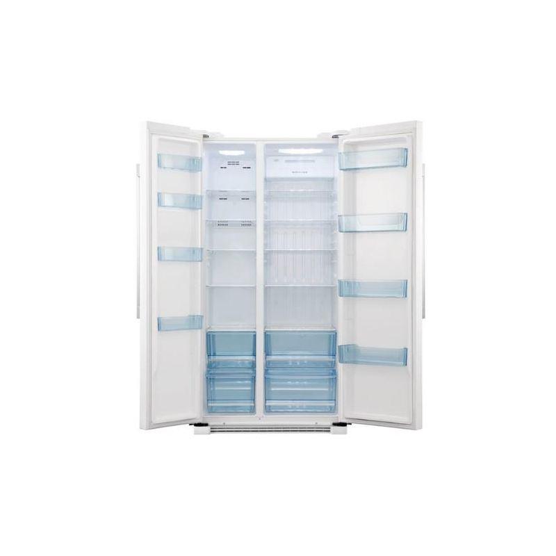 haier 629l side by side fridge white buy online. Black Bedroom Furniture Sets. Home Design Ideas