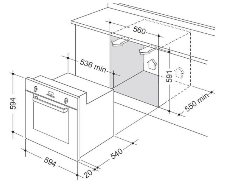 delonghi 60cm 7 function built-in oven