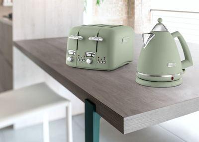 Delonghi Argento Flora 4 Slice Toaster Peppermint Green