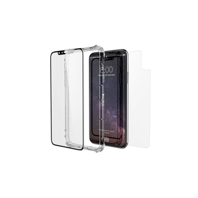 free shipping 8a7b1 d8616 ZAGG iPhone X InvisibleShield Glass+ Contour 360 Full Case