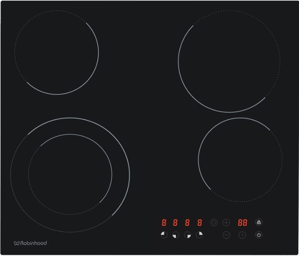 Robin Hood 4 zone touch control ceramic cooktop