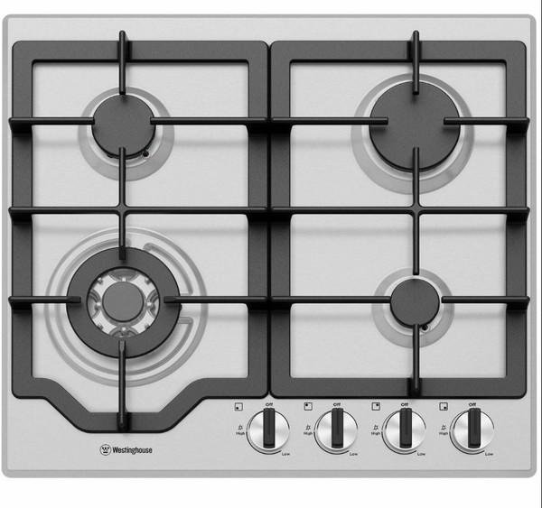 Westinghouse 60cm 4 burner stainless steel gas cooktop %282%29