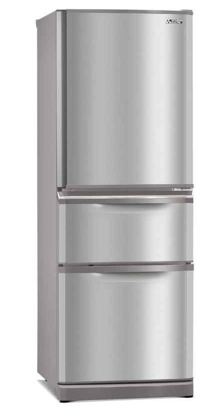 Mitsubishi 375l Connoisseur Two Drawer Refrigerator